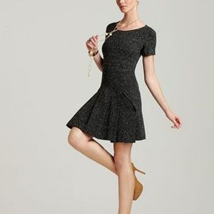 Theory Edilina Dropwaist Ponte Knit Pleated Dress